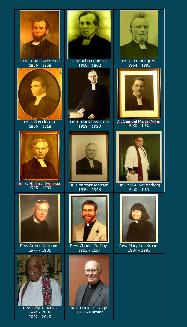 Pastors of First Lutheran Church 1856-present